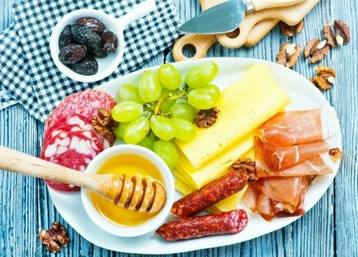 best tapas in Denver - table with Italian antipasti selection