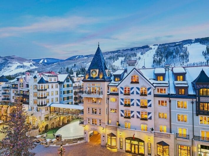 Exterior of The Arrabelle Vail and Vail Village in Colorado